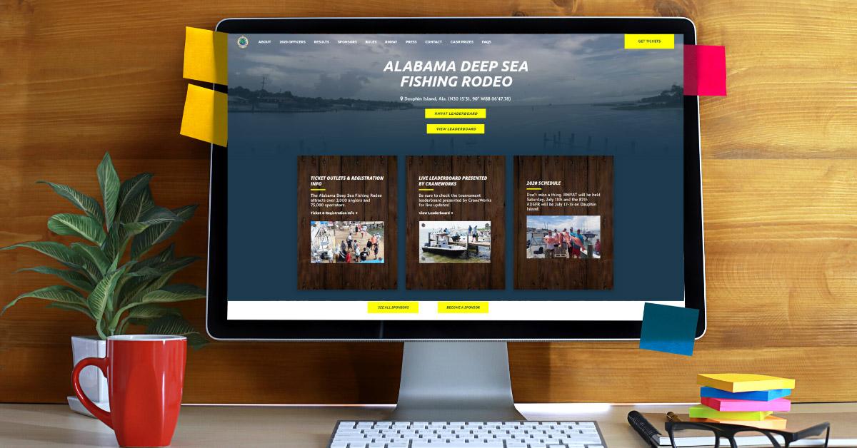 Website Design and Development: Alabama Deep Sea Fishing Rodeo