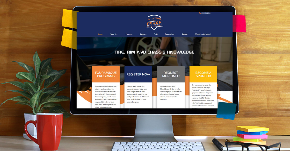 Website Design and Development: Track Auto Training