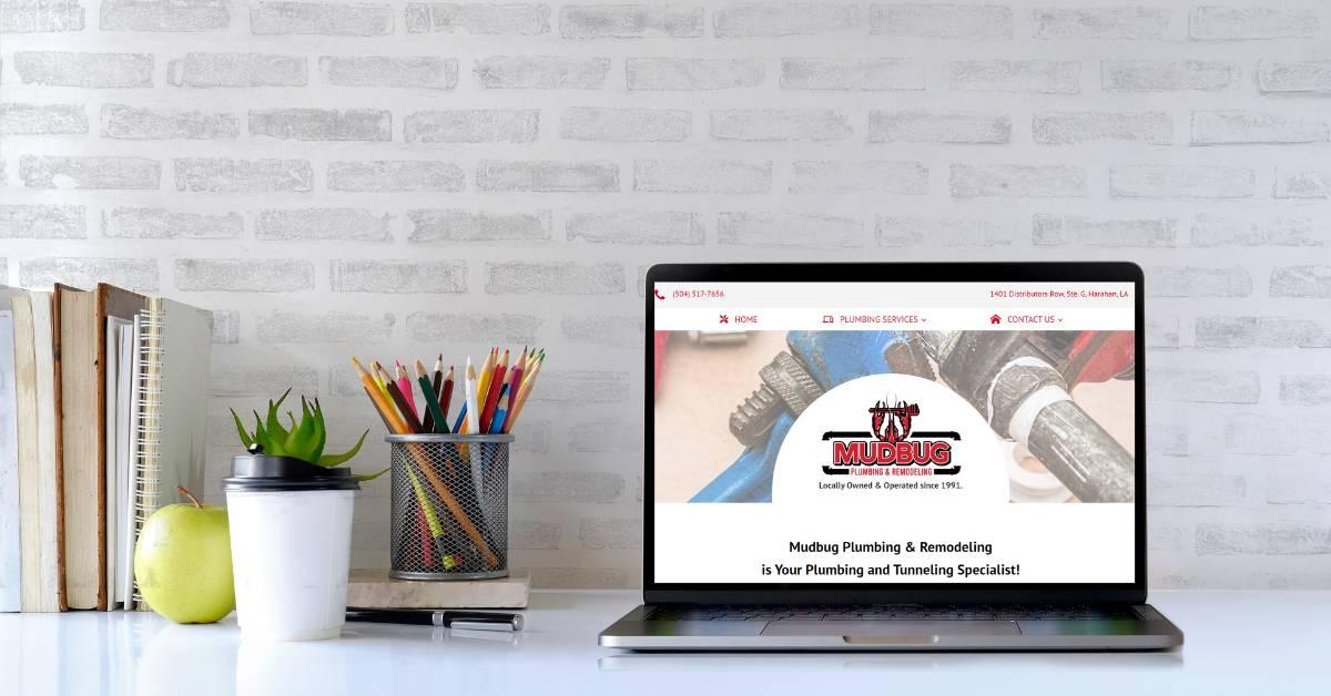 Website Design and Development: Mudbug Plumbing